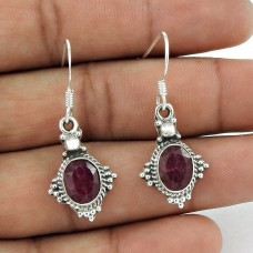 Intriguant!! 925 Sterling Silver Ruby Earrings Supplier