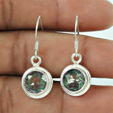 Rattling 925 Sterling Silver Mystic Topaz Gemstone Earring Jewellery
