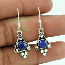 Big Natural Top! 925 Sterling Silver Blue Sapphire Earrings Wholesaling