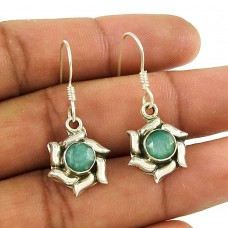 Paradise Lantern! 925 Sterling Silver Emerald Earrings Supplier India
