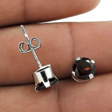 Awesome Style Of! 925 Sterling Silver Garnet Earrings Al por mayor