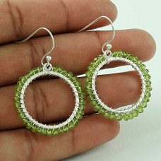 Amazing Design! Sterling Silver Peridot Gemstone Earrings Manufacturer