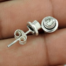 925 Sterling Silver Indian Jewellery Beautiful Crystal Gemstone Earrings Manufacturer