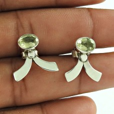 Sterling Silver Fashion Jewellery Rare Lemon Quartz Gemstone Earrings