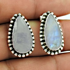 So In Love! 925 Silver Rainbow Moonstone Earrings