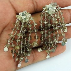 925 Sterling Silver Jewellery Rare Smoky Quartz Gemstone Fashion Earrings
