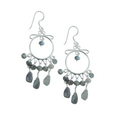 Fabulous 925 Sterling Silver Labradorite Earrings Hersteller