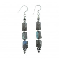 925 Silver Jewellery Beautiful Labradorite Gemstone Earrings