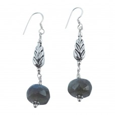 925 Silver Jewellery Traditional Labradorite Gemstone Drop Earrings