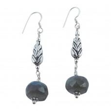 925 Silver Jewellery Traditional Labradorite Gemstone Drop Earrings