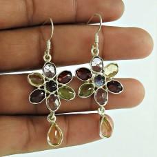 925 Sterling Silver Jewellery Rare Garnet, Citrine, Amethyst, Peridot, Iolite Gemstone Earrings