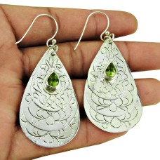 Charming Peridot Gemstone Earrings 925 Silver Jewellery