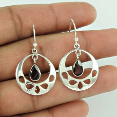 Precious!! 925 Sterling Silver Garnet Gemstone Earrings Großhandel