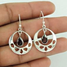 Precious!! 925 Sterling Silver Garnet Gemstone Earrings Großhandel