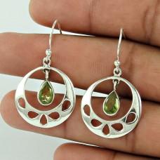 Tropical Glow!! 925 Sterling Silver Peridot Gemstone Earrings Großhändler