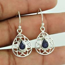 Lilac Kiss!! 925 Sterling Silver Iolite Gemstone Earrings Proveedor
