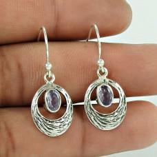 Big Natural Top!! 925 Sterling Silver Amethyst Gemstone Earrings Großhandel