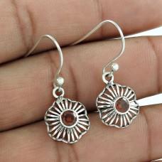 Paradise Lantern!! 925 Sterling Silver Garnet Gemstone Earrings Wholesaler