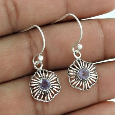 Royal Color!! 925 Sterling Silver Amethyst Gemstone Earrings Exporter