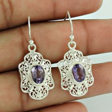 Paradise Bloom ! Amethyst 925 Sterling Silver Earrings Wholesaling
