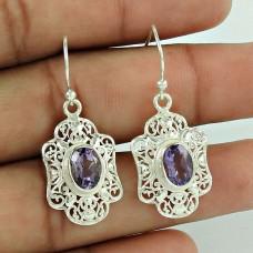 Paradise Bloom ! Amethyst 925 Sterling Silver Earrings Wholesaling