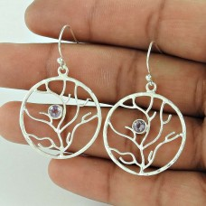 Blooming Garden ! Amethyst 925 Sterling Silver Earrings Exporter India