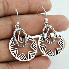 Awesome Design Of !! Garnet 925 Sterling Silver Earrings Mayorista