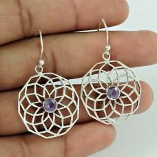 Royal! 925 Sterling Silver Amethyst Gemstone Earrings Lieferant