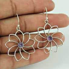 New Style Of! 925 Sterling Silver Amethyst Gemstone Earrings Wholesaler