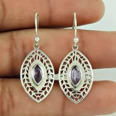 My Sweet !! 925 Sterling Silver Amethyst Earrings Wholesale Price