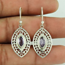 Big Love's Victory !! 925 Sterling Silver Amethyst Earrings Supplier India