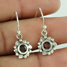 Precious! 925 Sterling Silver Garnet Gemstone Earrings Manufacturer