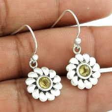 Big Amazing! 925 Sterling Silver Citrine Gemstone Earrings Lieferant
