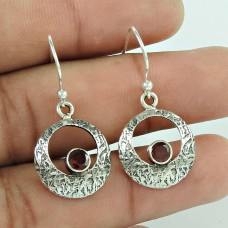 Caribbean Sea ! Garnet 925 Sterling Silver Earrings Manufacturer India