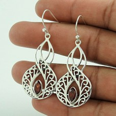 Passion !! Garnet 925 Sterling Silver Earrings Wholesaling