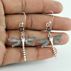 Fabulous !! Garnet 925 Sterling Silver Earrings Manufacturer India