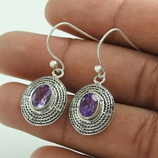 Precious Amethyst Gemstone Silver Earrings Jewellery Großhandel