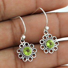 Colour Changing ! Peridot 925 Sterling Silver Earrings Supplier India