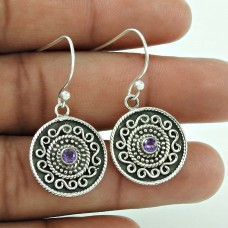 Huge Modern Style !! Amethyst 925 Sterling Silver Earrings Fournisseur