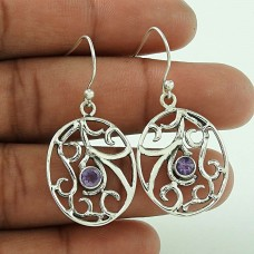 Big Special Moment ! Amethyst 925 Sterling Silver Earrings Wholesale
