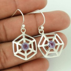 2018 Fashion ! Amethyst 925 Sterling Silver Earrings Exporter India