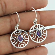 Big New Awesome ! Amethyst 925 Sterling Silver Earrings Proveedor