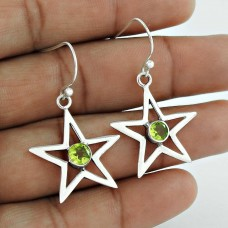 New Fashion Design!! Peridot 925 Sterling Silver Earrings Fabricant