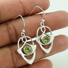 True Emotion Peridot Gemstone 925 Sterling Silver Earrings Wholesale Price