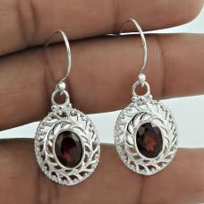 Breath Of Love ! Garnet 925 Sterling Silver Earrings Lieferant