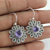Briliance ! Amethyst 925 Sterling Silver Earrings Wholesaling