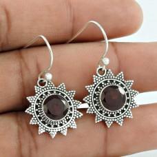 Fantastic ! Garnet 925 Sterling Silver Earrings Manufacturer India