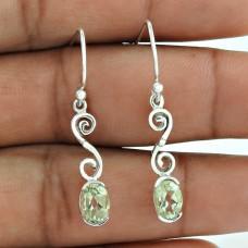 Top Quality African!! Green Amethyst 925 Sterling Silver Earrings Großhandel