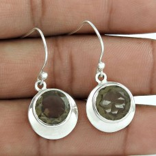 Maya Freedom ! Smoky Quartz 925 Sterling Silver Earrings Manufacturer
