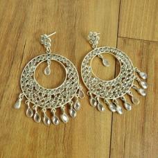 Royal Style Crystal Gemstone Sterling Silver Stud Earrings Jewellery Wholesale Price